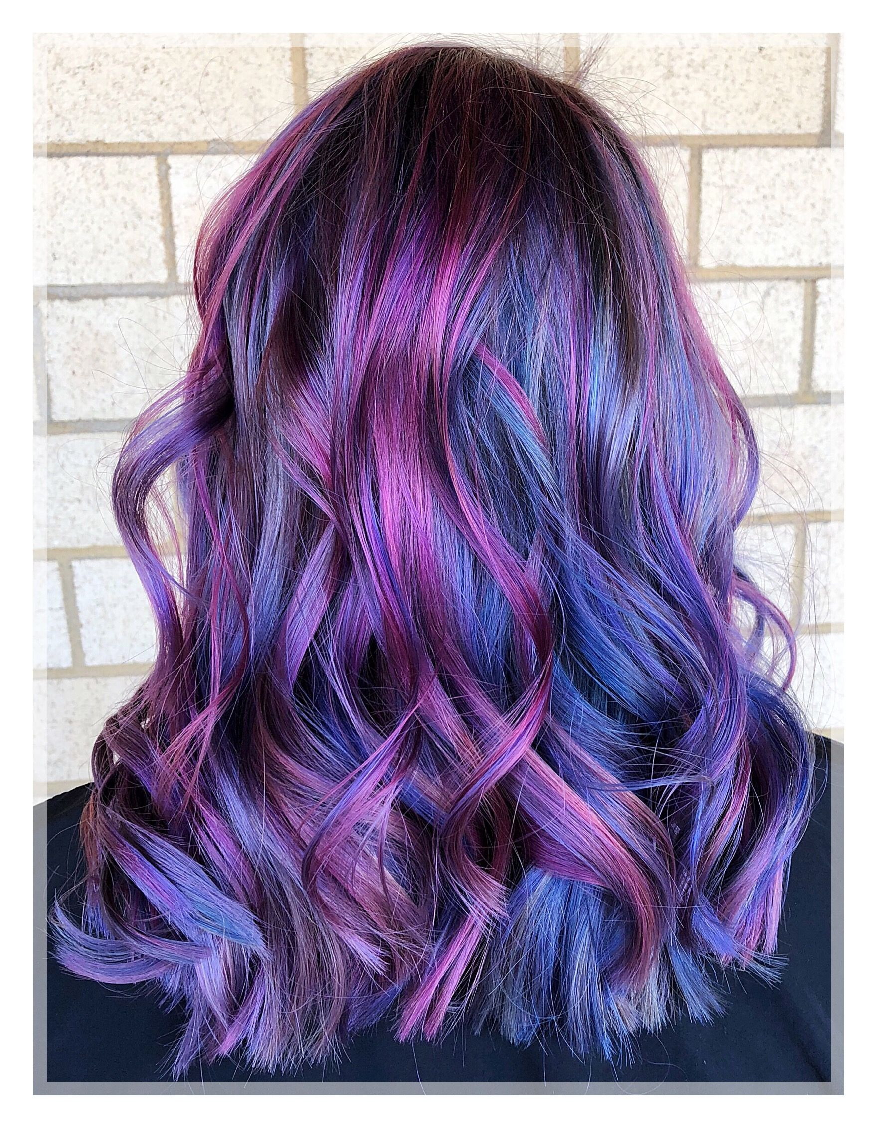 Stunning Dimensional Violet Hair Beauty Check Out All The Beautiful Dimension In This Violet Blue And Purple Color Hair Color Blue Purple Hair Hair Color