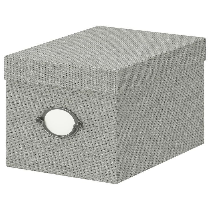 Ikea Kvarnvik Gray Storage Box With Lid Melissa Leclair