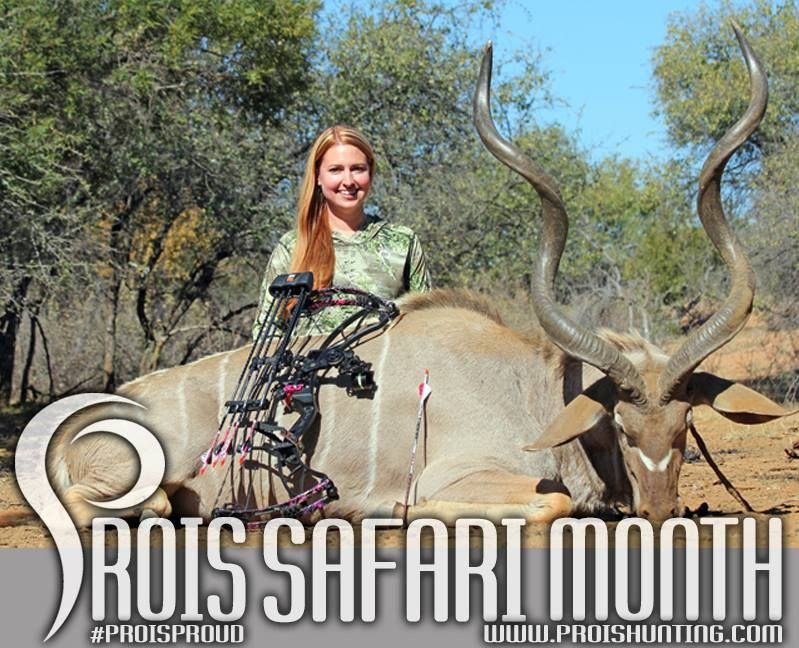It's Safari month at Prois! Visit www.proishunting.com for Safari month only deals on Safari approved Prois apparel!  Photo: Prois Staffer & Alaska State Coordinator, Joni Marie