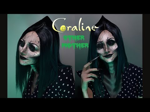Coraline S Other Mother Makeup Tutorial Rebeccaseals Youtube Cute Halloween Makeup Mothers Makeup Halloween Makeup Easy