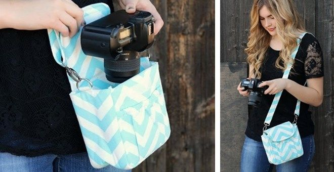 Small DIgital Chevron Camera Bags