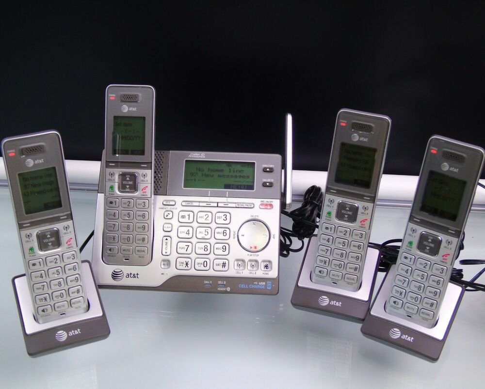 AT&T CLP99483 Answering System 4 Handsets Connect to Cell