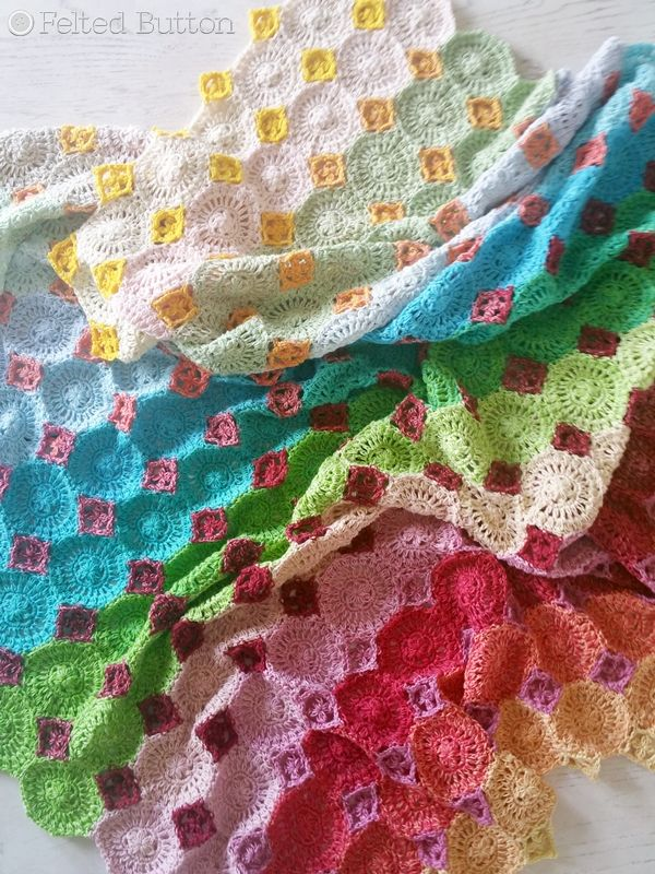 Lightfall Blanket Crochet Pattern by Susan Carlson of Felted Button ...