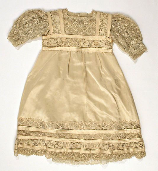 1910 House of Lanvin silk child's dress, French