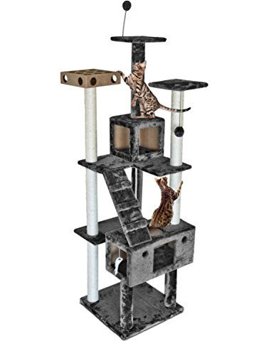 Tiger Tough Floor To Ceiling Cat Tree House Furniture For Kittens And Cats Multiple Color Style Cat Condos 45 T Cat Tree House Large Cat Tree Cat Tree Condo