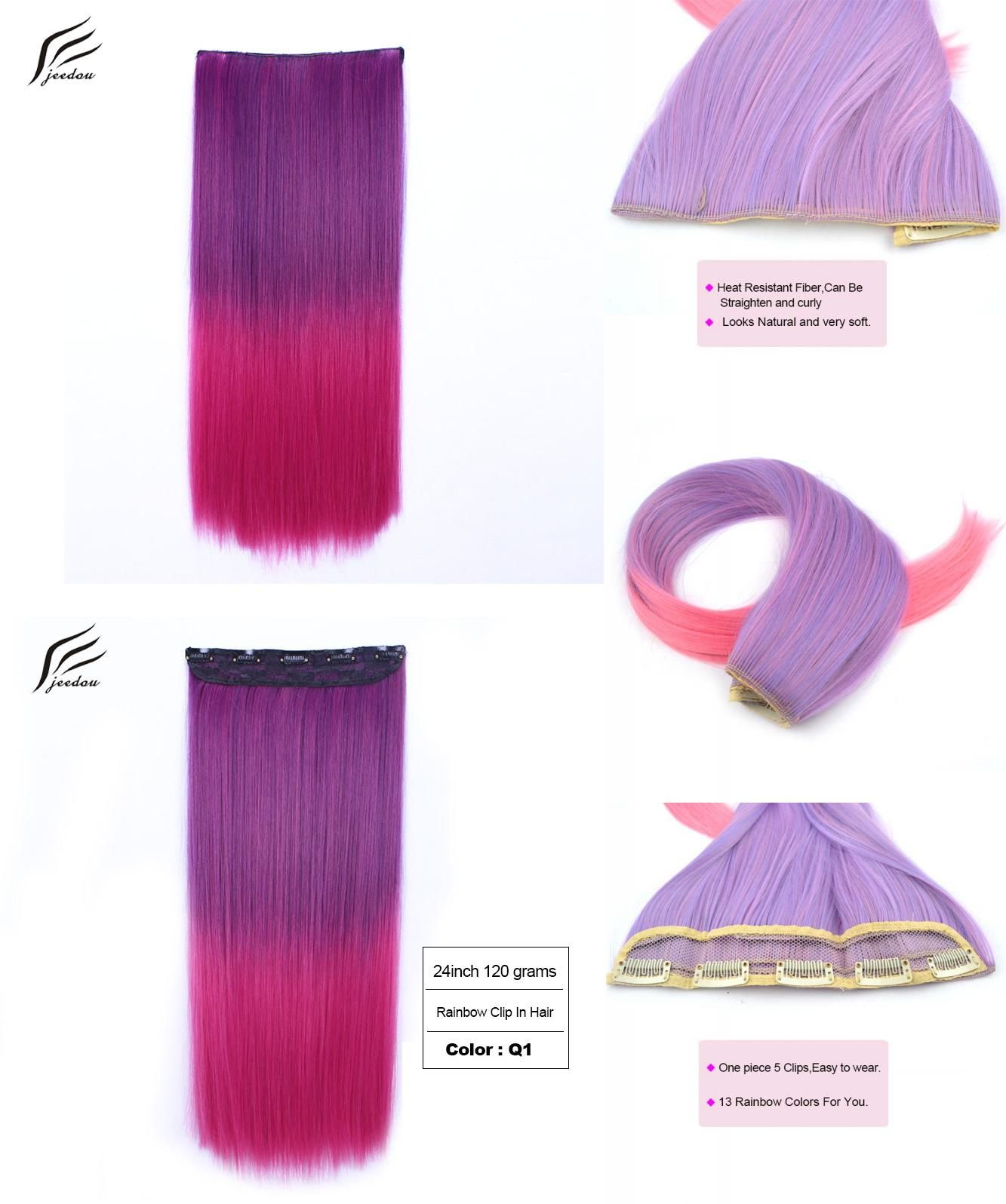Visit To Buy Jeedou Synthetic Clip In Hair Extension Womens Flase