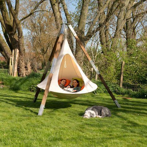 cacoon fauteuil suspendu double jardin cour exterieure amenagement jardin. Black Bedroom Furniture Sets. Home Design Ideas