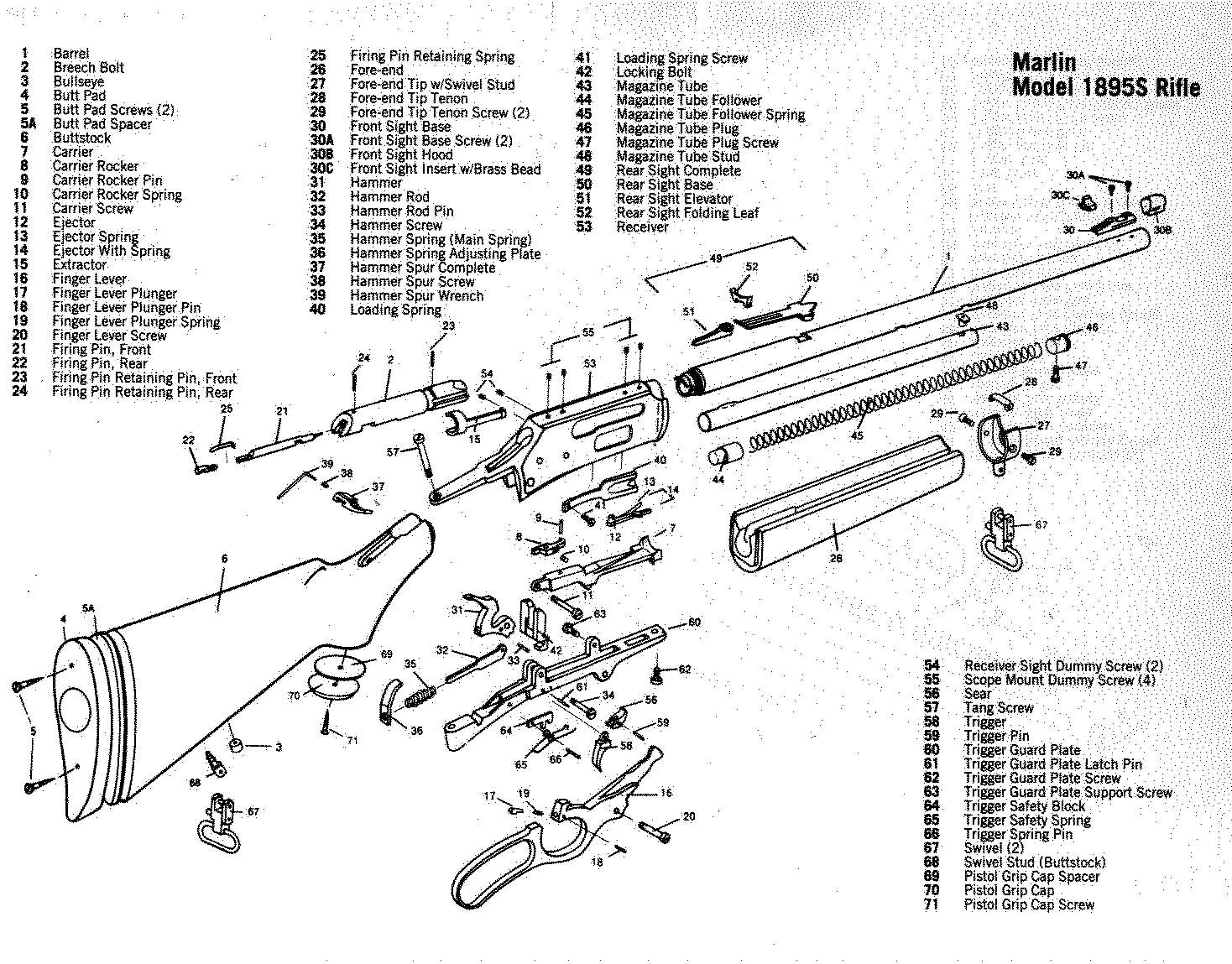 Marlin model 336 parts diagram data library mar1895 jpg 1468 1149 gunsmithing pinterest guns and weapons rh pinterest com marlin camp 9 parts diagram marlin 30 30 parts diagram ccuart Image collections