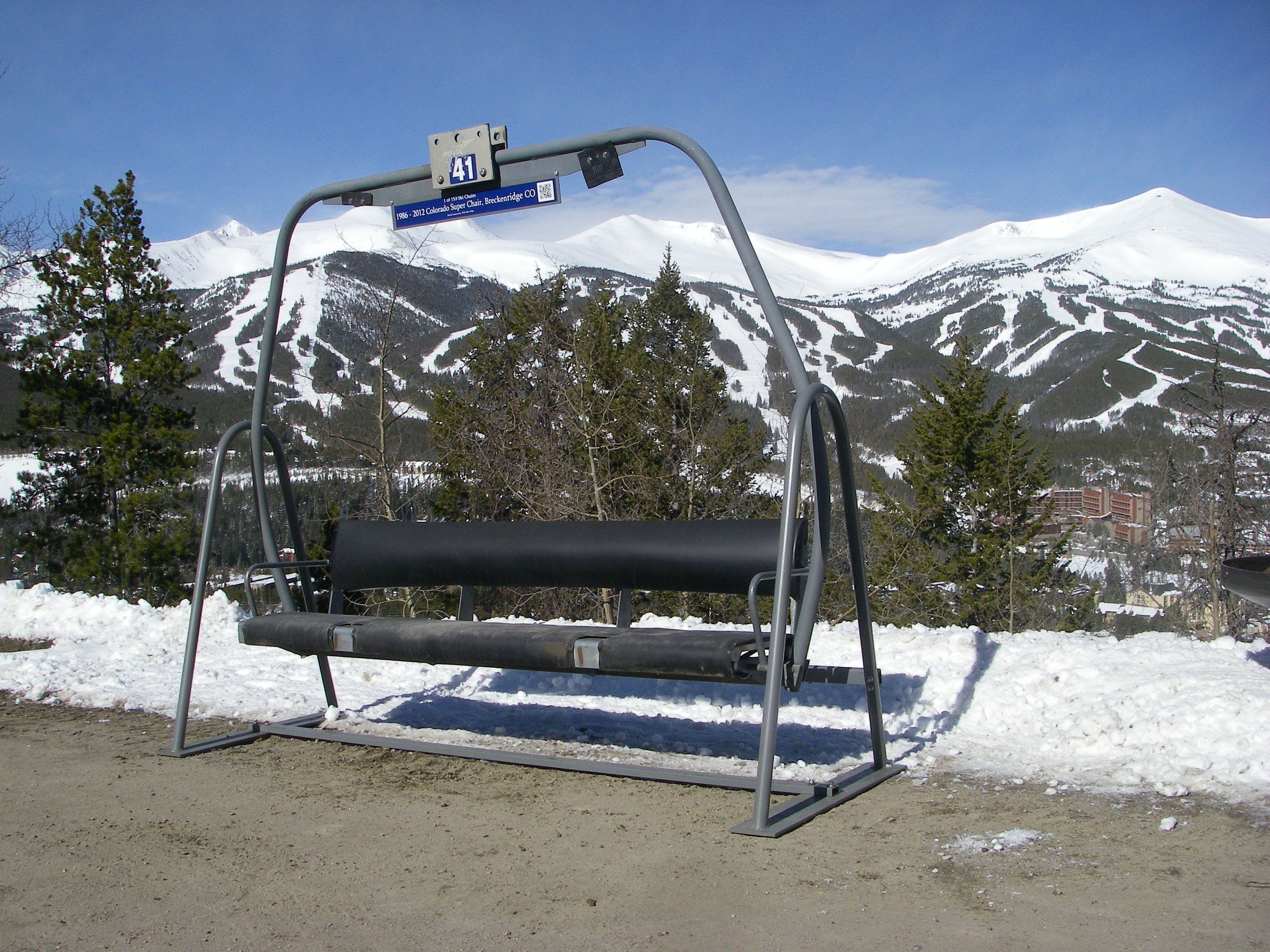 ski lift chairs triple swing outdoor pinterest ski lift