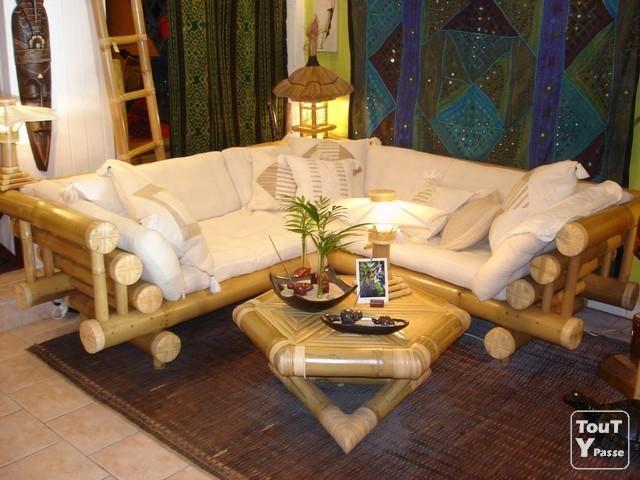 mobilier en bambou | Photo Gazebo bambou mobilier de jardin image 1 ...