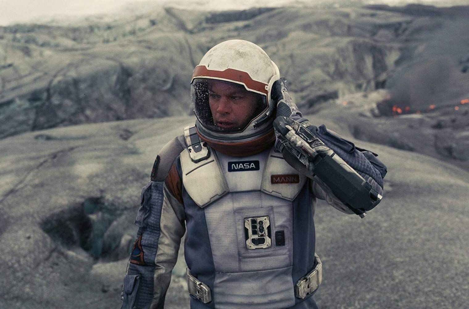 Matt Damon in Interstellar (2014)   Matt damon, Interstellar, The fall movie