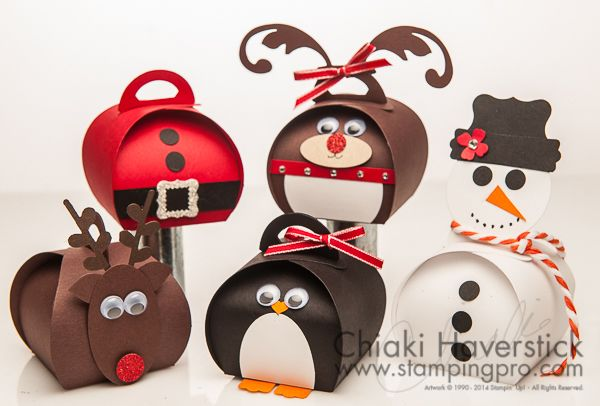 Christmas versions of the Curvy Keepsake framelit treatholders