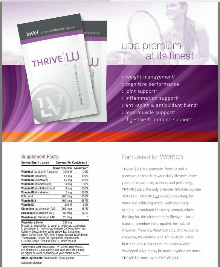 Thrive Women S Capsule Ingredients Www Heatherwestrich Le