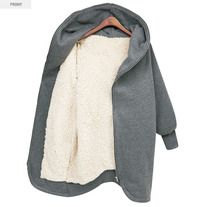 This sweatshirt outwear coat in fashion European style with hooded design, medium style, solid color, warm thicken wool inside, zipper-up cardigan design and long sleeves. It is soft and comfortable to wear. It can show your personality perfectly. It is a perfect option for you, act now.  Featu...