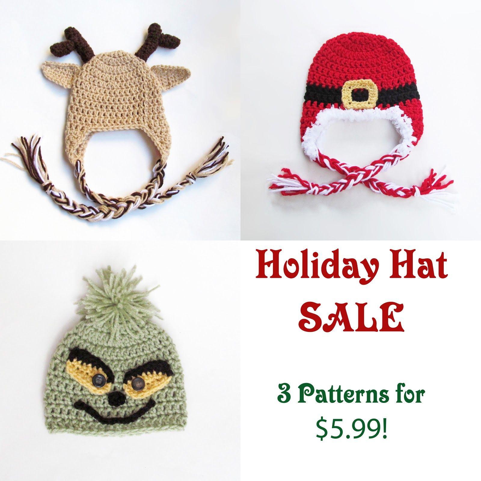 Christmas Crochet Hats | gorros bebe | Pinterest | Gorros, Navidad y ...
