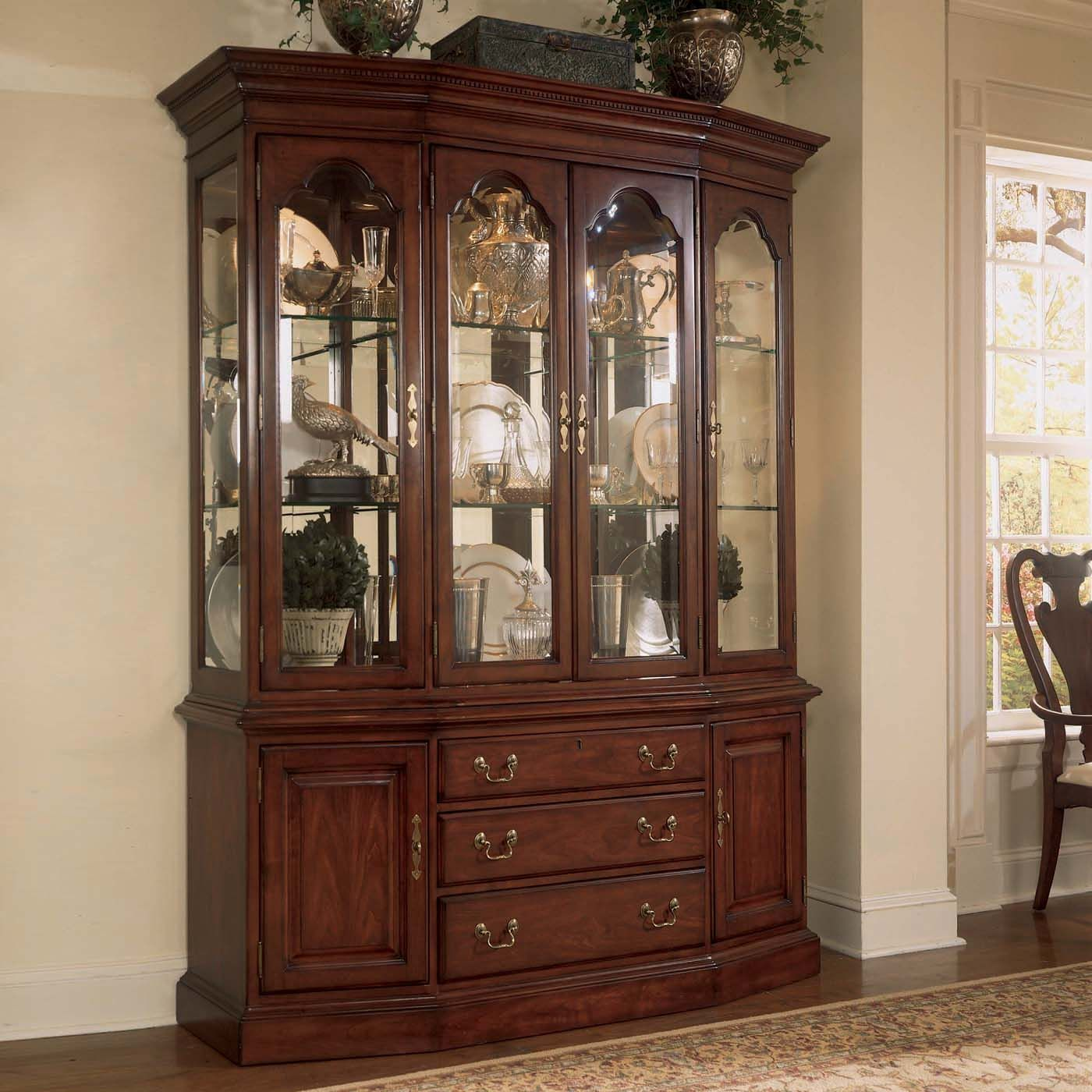 American Drew Cherry Grove Canted China Cabinet Furniture Dreams