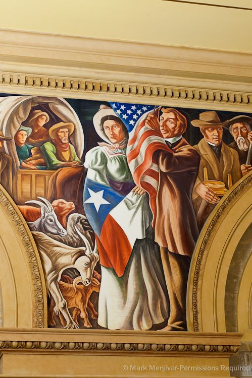 A Beautiful 16 Panel Mural Titled San Antonio S Importance In History Adorns The Walls Of The Hipolito F Garcia Federal Building And Us Courthouse In Downto