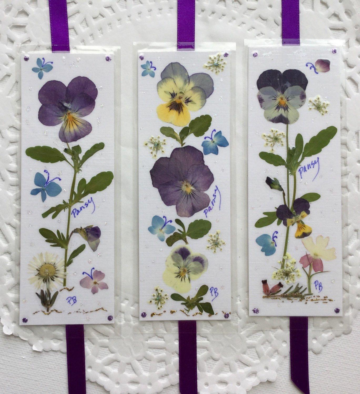 Pressed Flower Gifts Pressed Flower Gifts Laminated Bookmarks