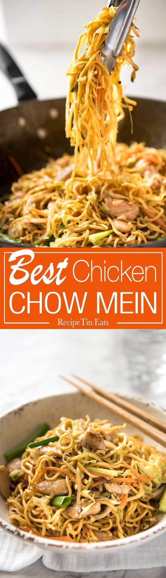 This Chow Mein Really Does Taste Like What You Get From Chinese Restaurants The Secret Is Getting The S Best Chicken Chow Mein Recipe Recipes Chow Mein Recipe