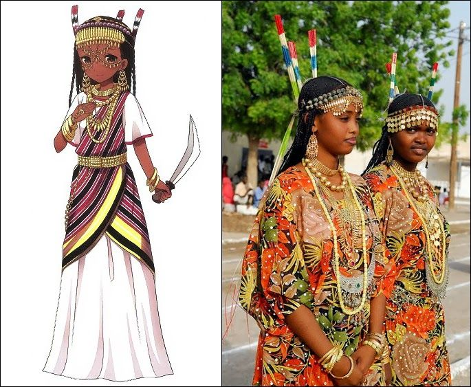 Traditional Clothes Of Afar People In Djibouti, Ethiopia