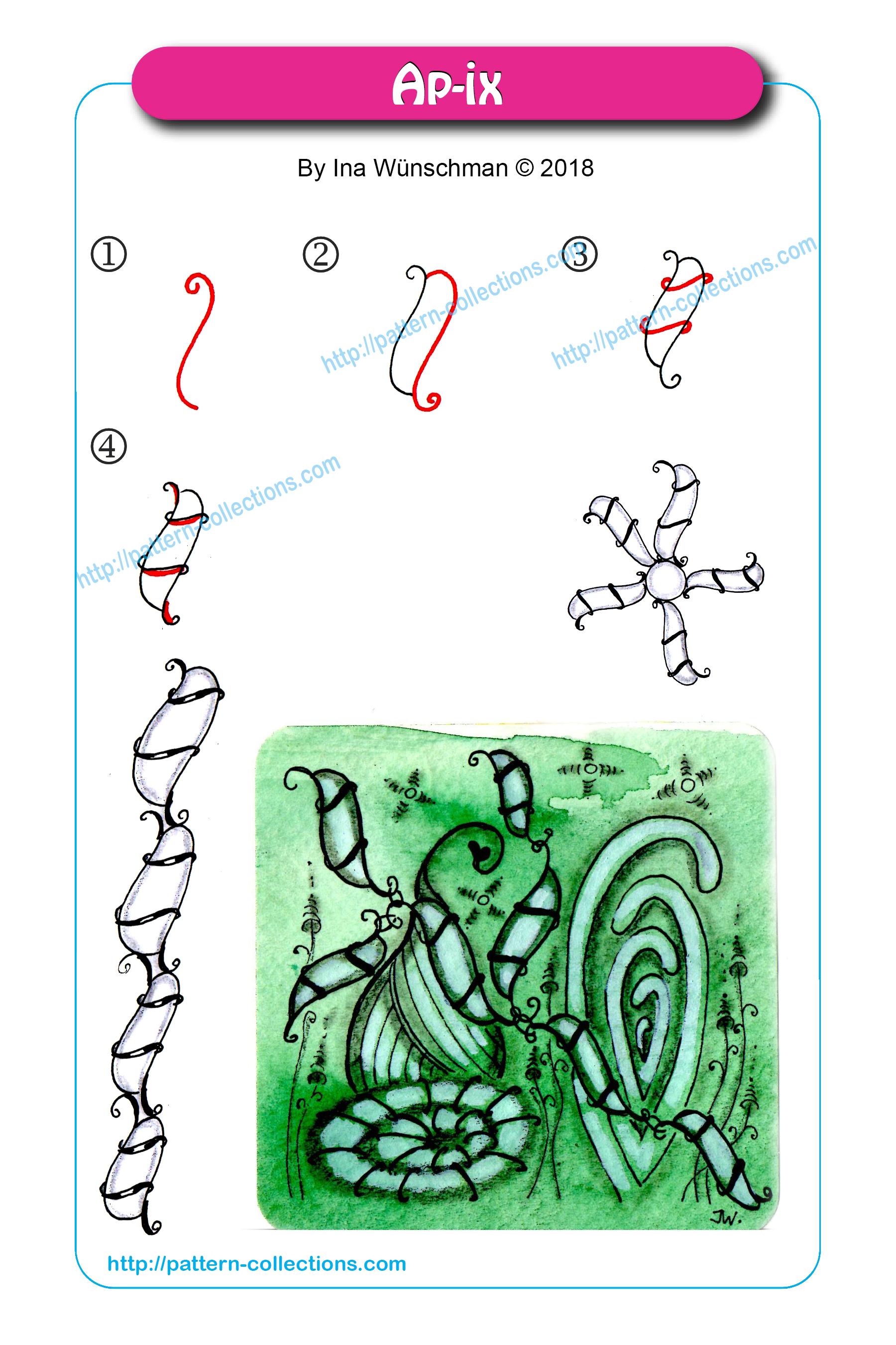 Ap-ix-by-Ina-Wünschmann.png (1800×2700) | Zentangle-Muster ...