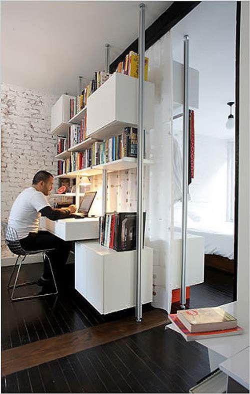 Aprovechar el espacio con estanter as y bibliotecas casa - Ikea mueble oficina ...