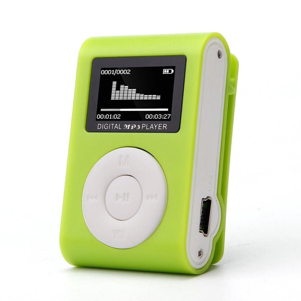 Mini Clip On Mp3 Player In Lots Of Funky Colors Usb Mp3 Player Mp3 Player Mp3