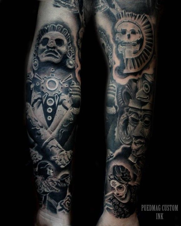 A gorgeous sleeve of Aztec culture by Luis Fernando ...