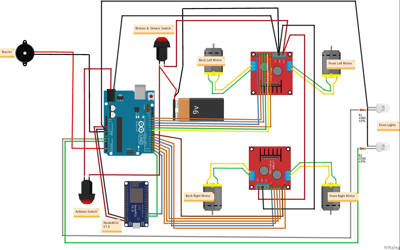 Wifi Robot Car E1hc3p8vck Arduino Arduino Electronics Projects
