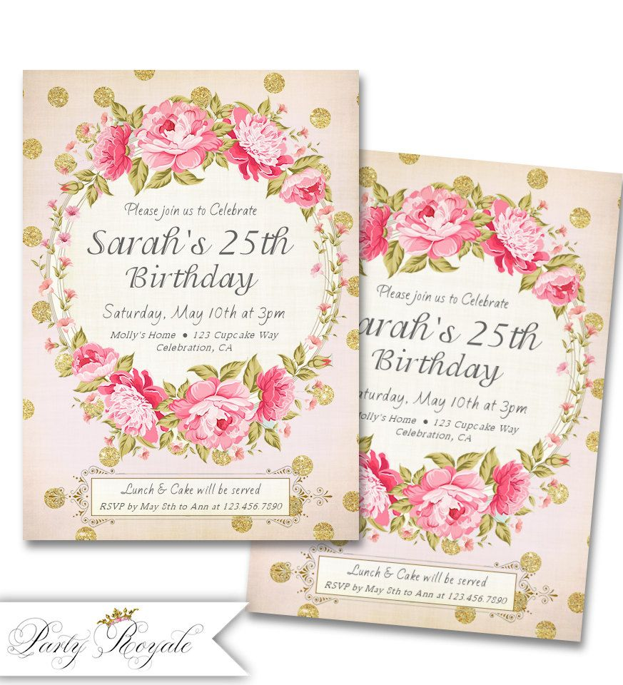 Free 25th Surprise Birthday Party Invitations