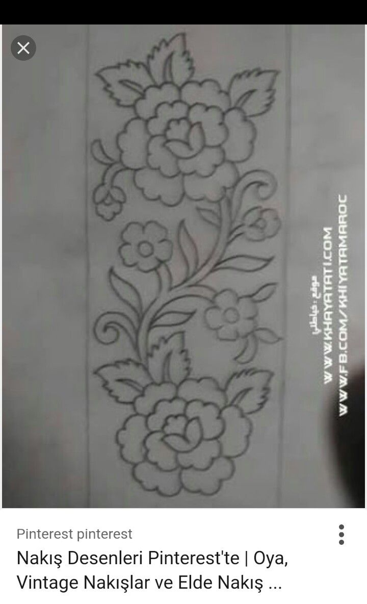Pin By Widya Sarkawi On Nakis Paftalar Sewing Embroidery Designs Embroidery Designs Border Embroidery Designs