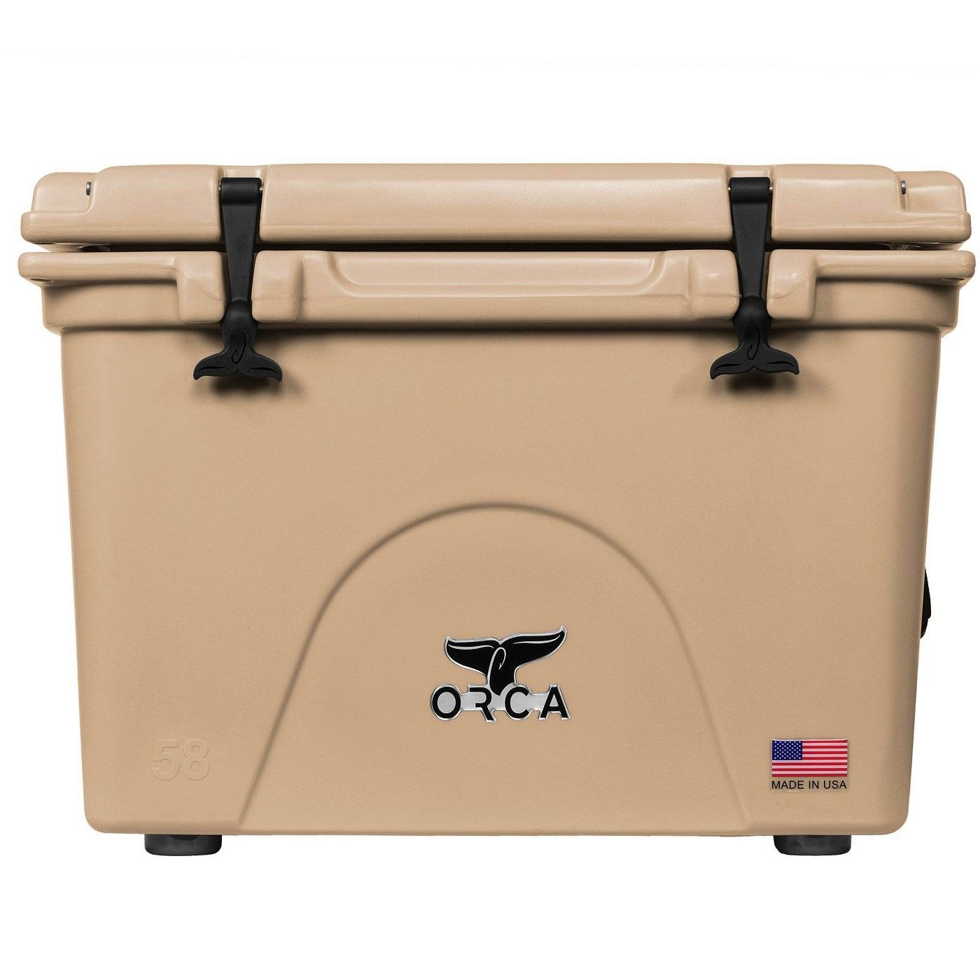 Orca 58 Quart 72 Can High Performance Roto Molded Insulated Ice Cooler Tan Orca Cooler Orca Cooler
