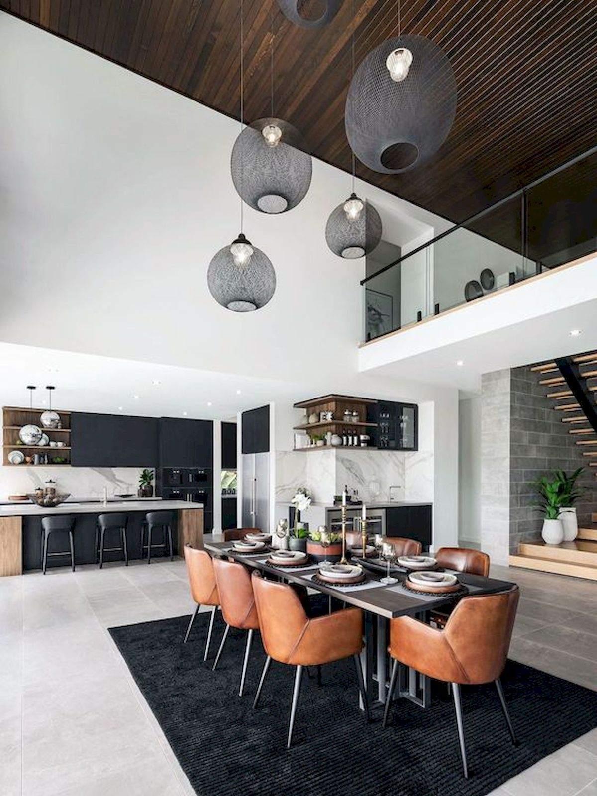 Adorable 80 Cozy Modern Dining Room Design And Decor Ideas For Your Home Source Https Ideabos Open Dining Room Luxury Dining Room Dining Room Design Modern