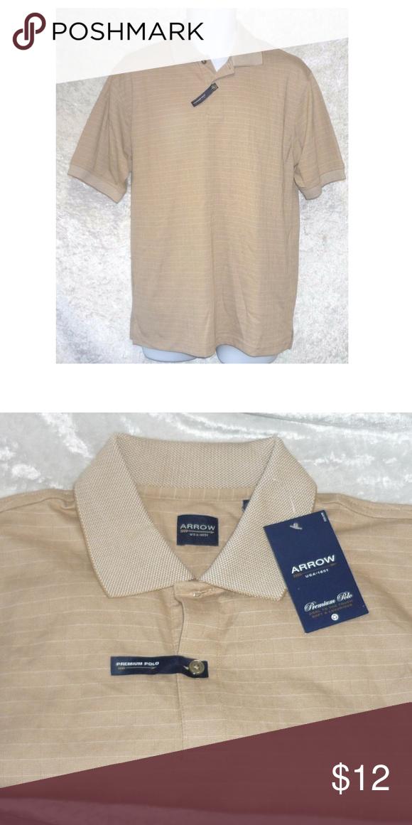 Arrow Windowpane or plaid Polo shirt men's size S NWT