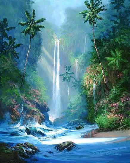 Waterfall Artwork Google Search Painting Ideas In 2019