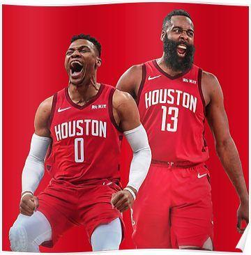 Russell Westbrook James Harden Rockets Poster James