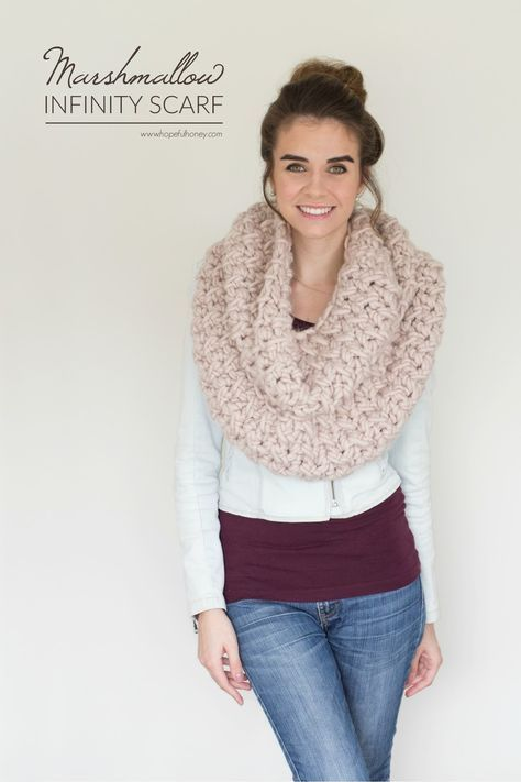 Marshmallow Infinity Scarf - Free Crochet Pattern | Chal