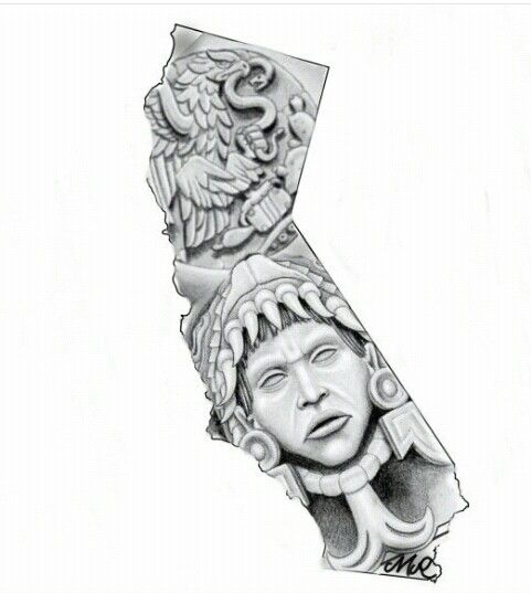 Chicano Arte Chicano Art Tattoos Aztec Tattoo Designs Aztec Artwork