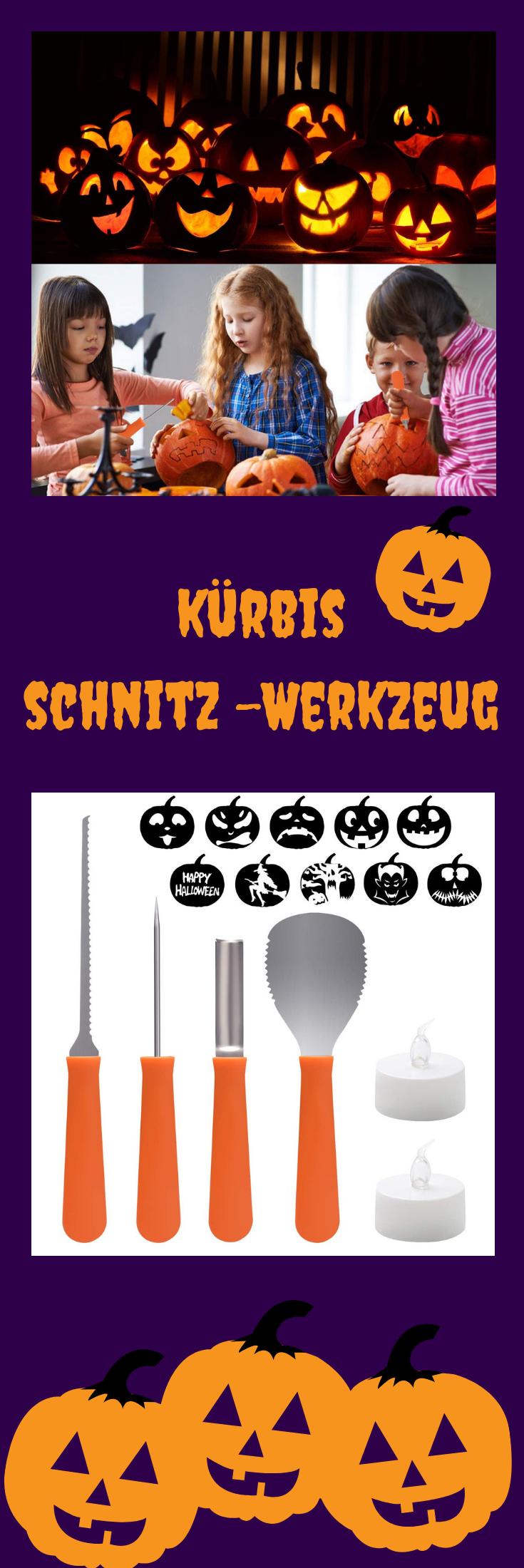 Halloween Kürbis Schnitzset, Halloweenkürbis