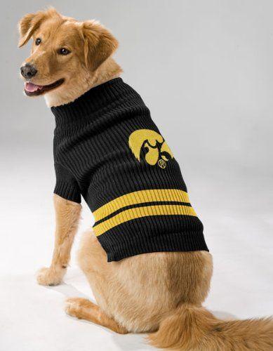 Iowa Hawkeyes Dog Sweater 24 99 Dog Sweater Pet Sweater Pets First