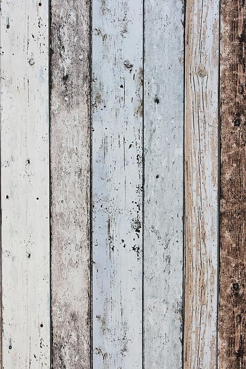Steigerhout Vliesbehang Blauwbruin Bij Behangwebshop