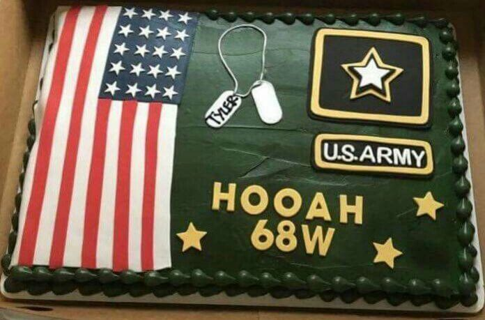 Army Cake For Farewell Party Army Graduation Party Army Cake