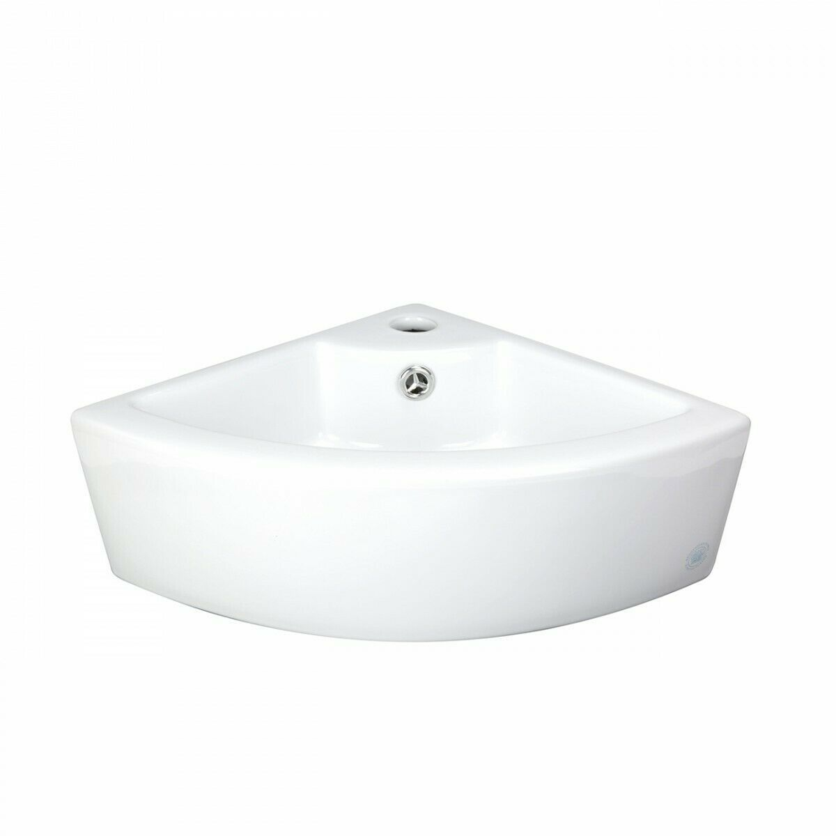 Bathroom Triangle Small White Corner Vessel Sink Above Counter
