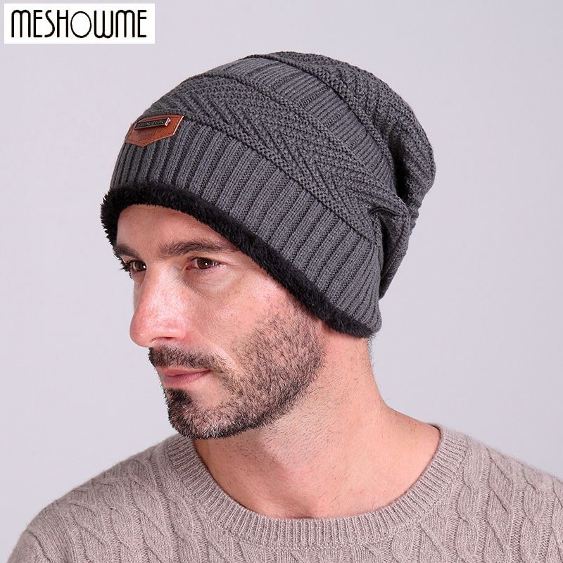 f695070b407 Beanies Knit Men s Winter Hat Caps Skullies Bonnet Winter Hats For Men  Women Beanie Fur Warm Baggy Wool Knitted Hat
