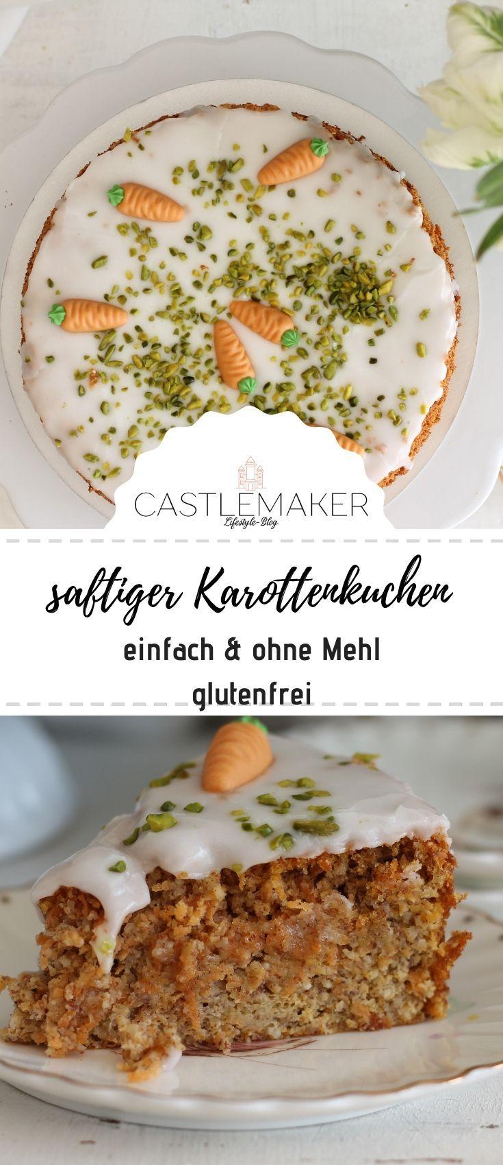 Saftiger Rüblikuchen mit Zitronenguss – super einfacher Karottenkuchen ohne Mehl « CASTLEMAKER Lifes  – Osterideen