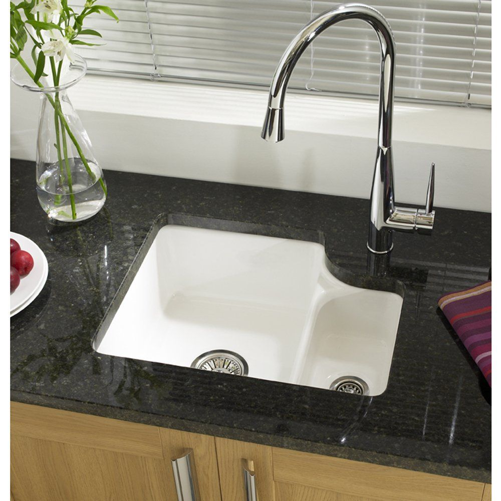 Astracast Lincoln Bowl Gloss White Ceramic Undermount Kitchen Sink Rhsb From Taps Uk S Specialist Sinks And Supplier