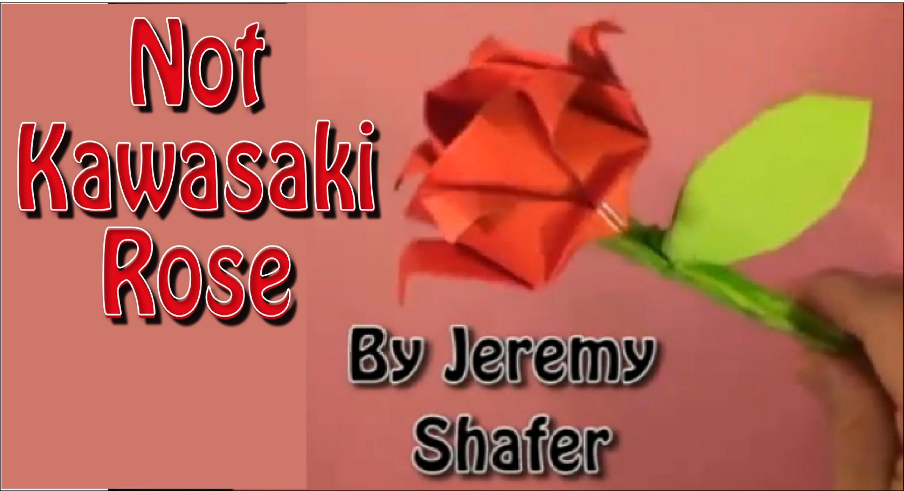 How To Fold the Not Kawasaki Rose | Origami Flowers ... - photo#11