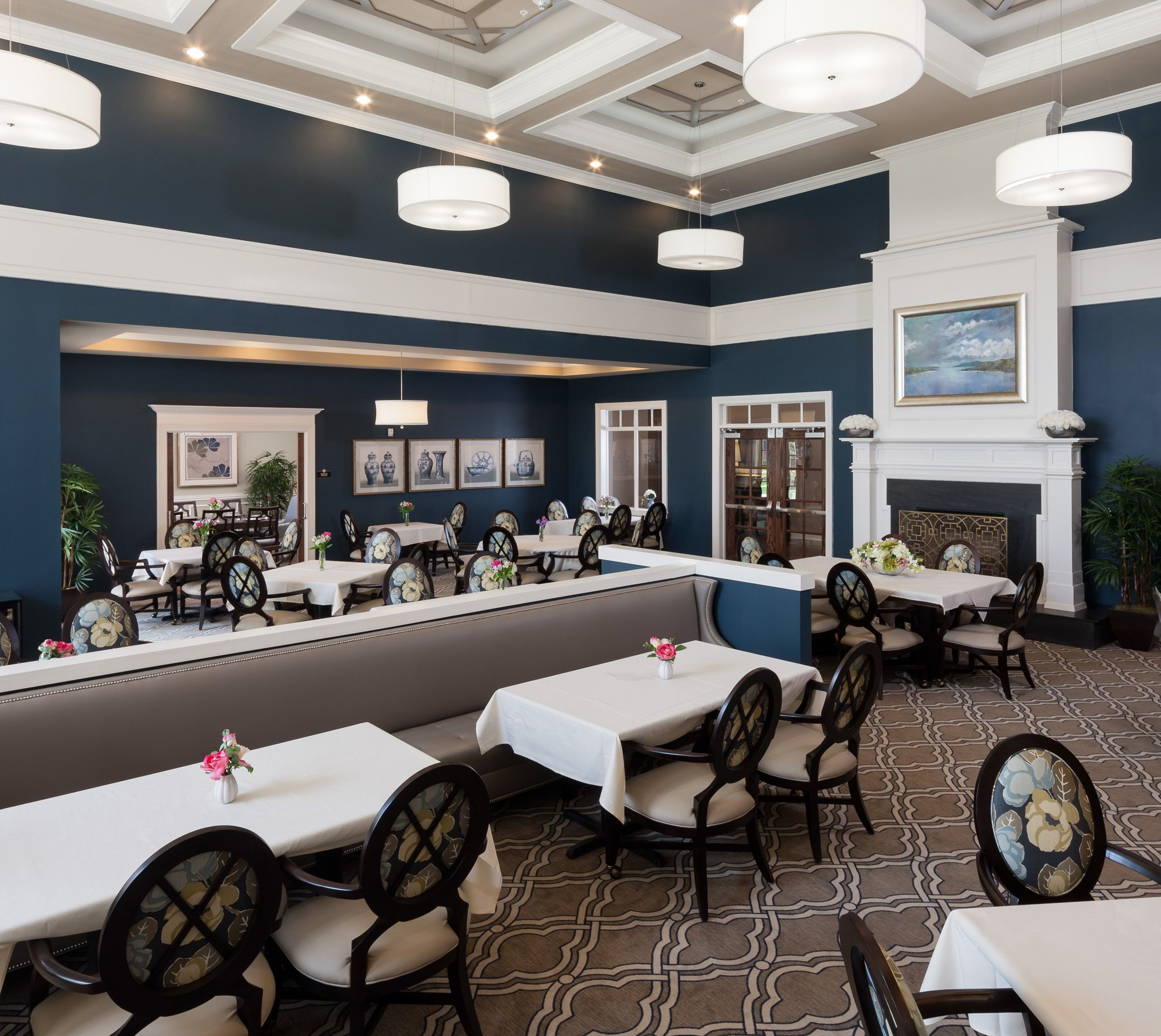 Senior Living Designed by Faulkner Design Group #diningroom