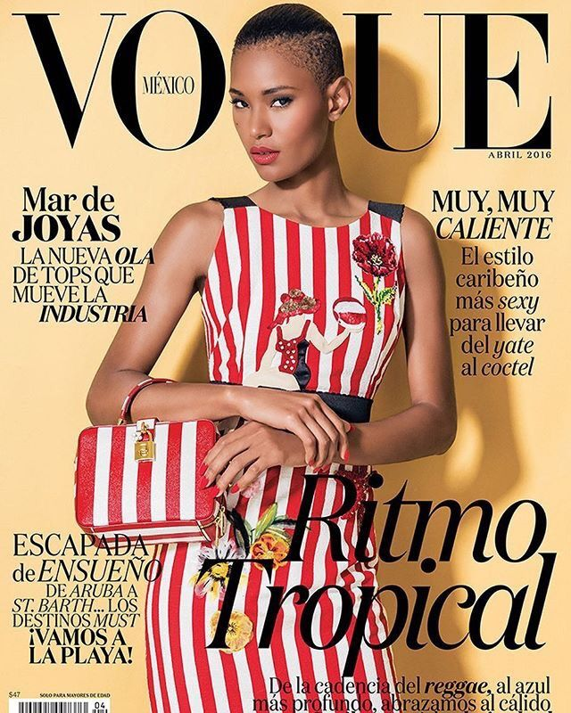 awesome Ysaunny Brito lands three covers of Vogue Mexico April 2016 by Jacques Dequeker