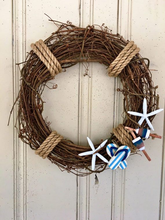 doors listing driftwood door wreath starfish beach front coastal natural wreaths boxwood il